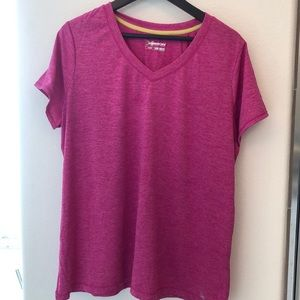 Hot Pink Workout Active Moisture Wicking Top 1X